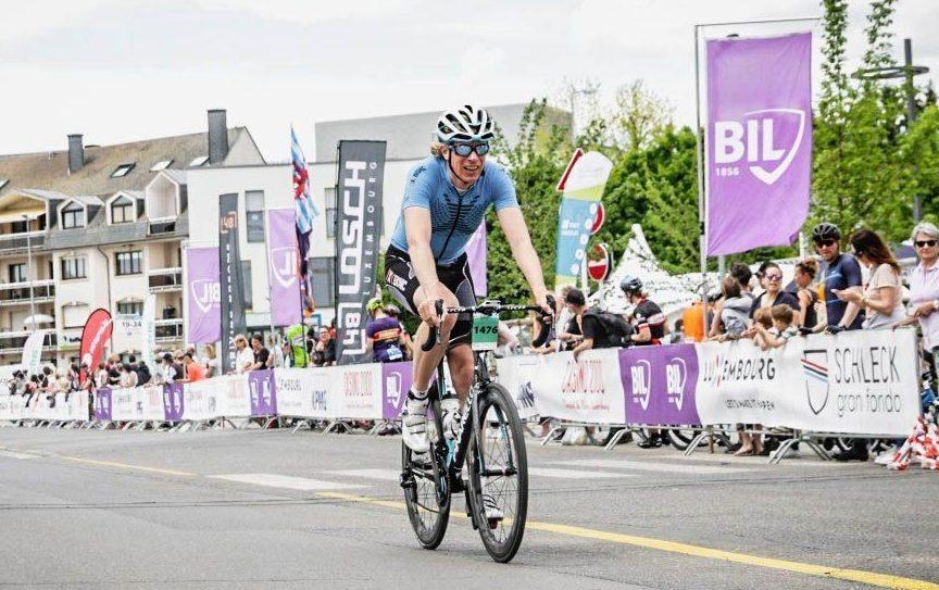 Moe maar voldaan over de finish. Foto: sportograf.com