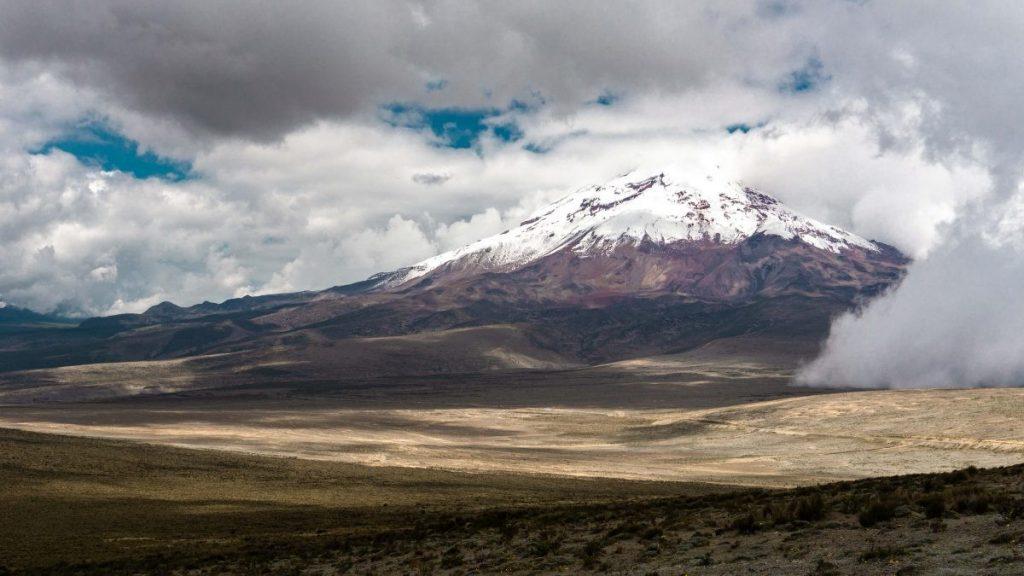 chimborazo vulkaan, ecuador