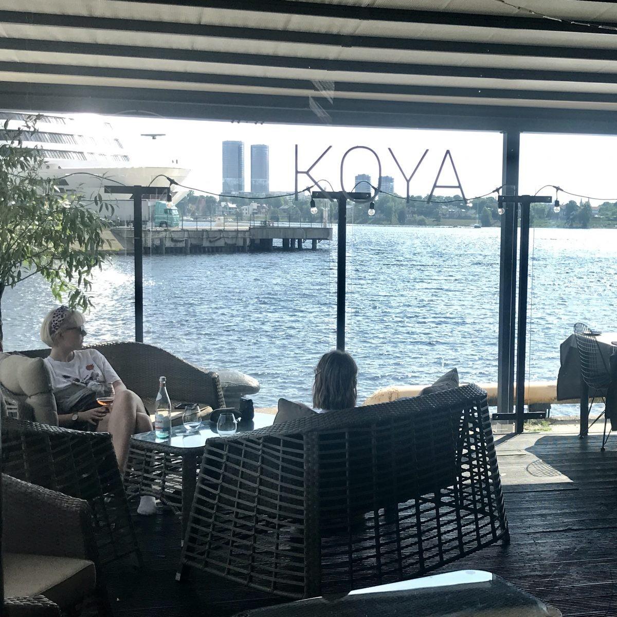Uitzicht vanaf het terras van Koya. Foto: Pauline van der Waal