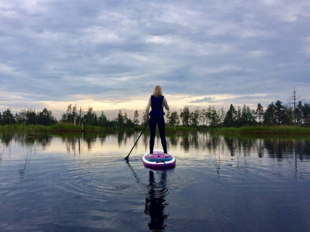 SUP in Letland. Foto; Dace Damberga, Supfit.lv