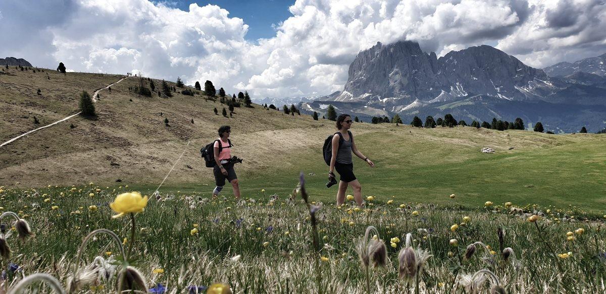 Wandelaars in de Dolomieten.