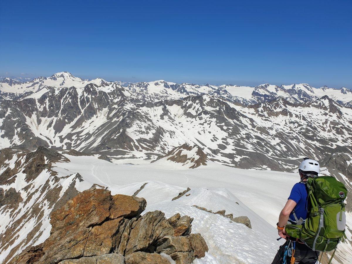 Via de graat naar de top van de Similaun. Foto: Sietske Mensing