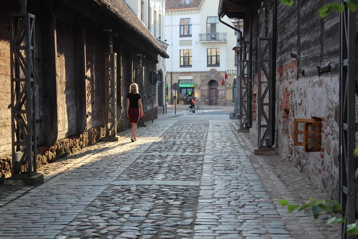 Oude straatjes van Liepaja