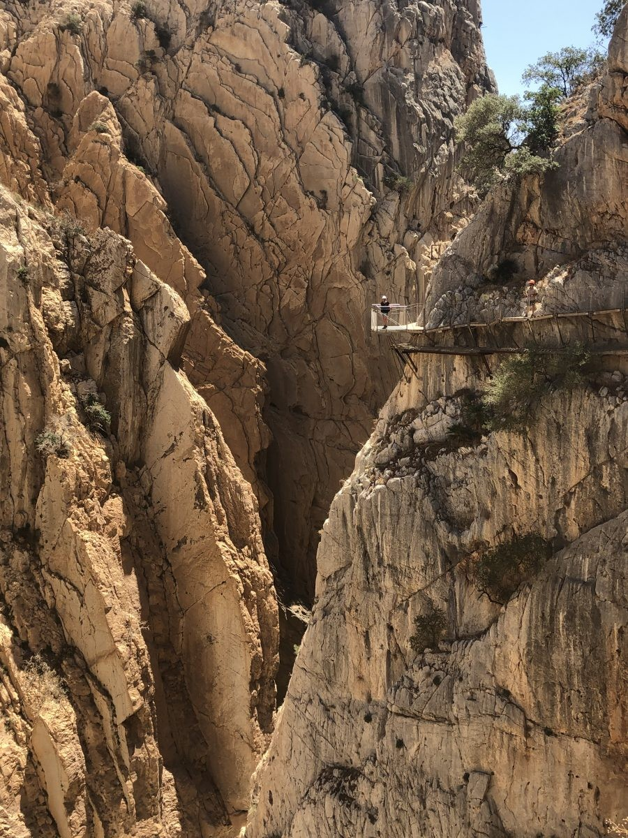 Platform met uitzicht over El Chorro kloof