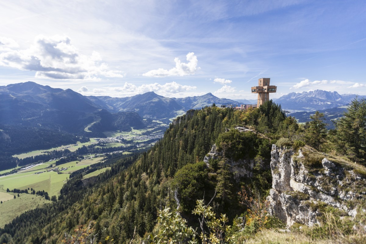 Het bekende 'Jakobskreuz' op de top © Andreas Langreiter