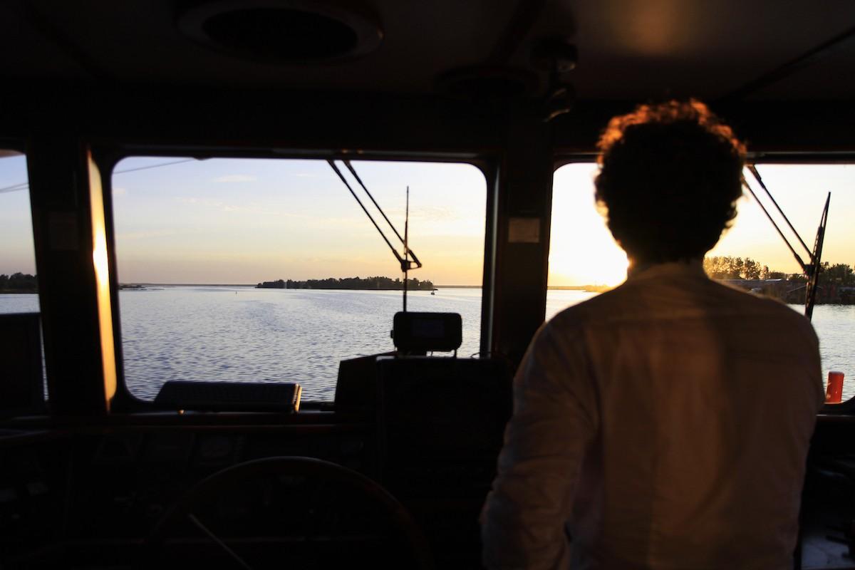 Het zicht vanuit de kapiteinshut