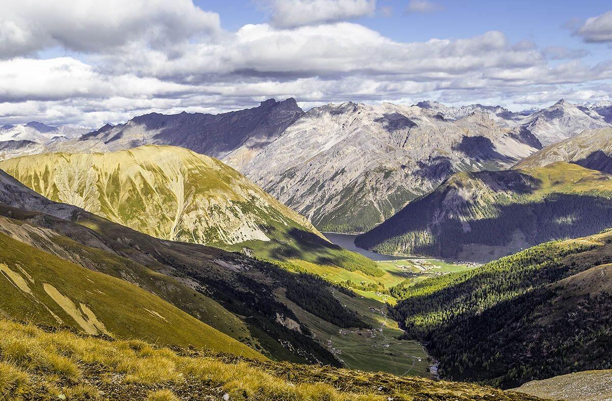 Prachtige vergezichten vanaf de bergen. Copyright: Livigno