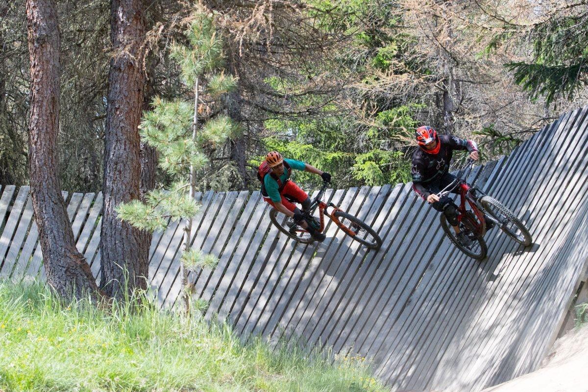 Vermaak je in het bike park. Copyright: Livigno