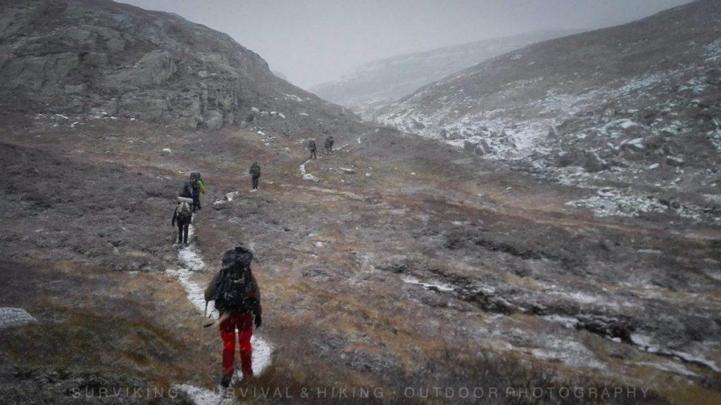 Herfst Survival Trektocht door Noorwegen