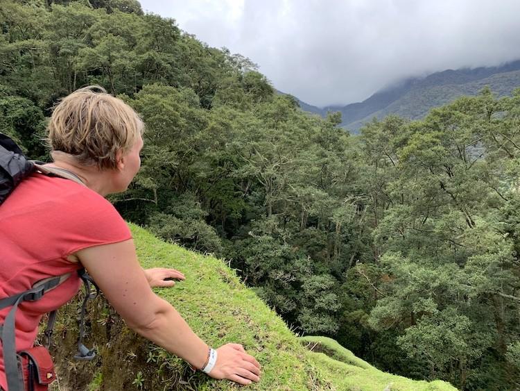 Even uitblazen en genieten van het uitzicht. Colombia