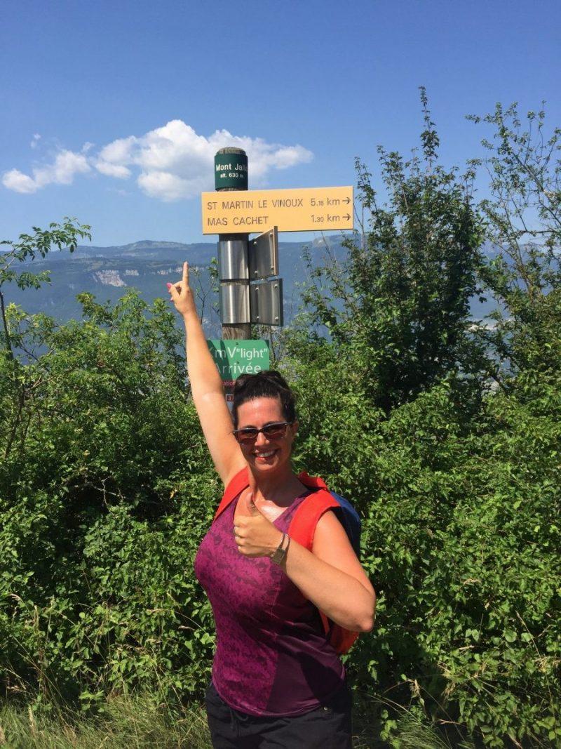 Top Mont Jalla (Grenoble). Hier geen kabelbaan.