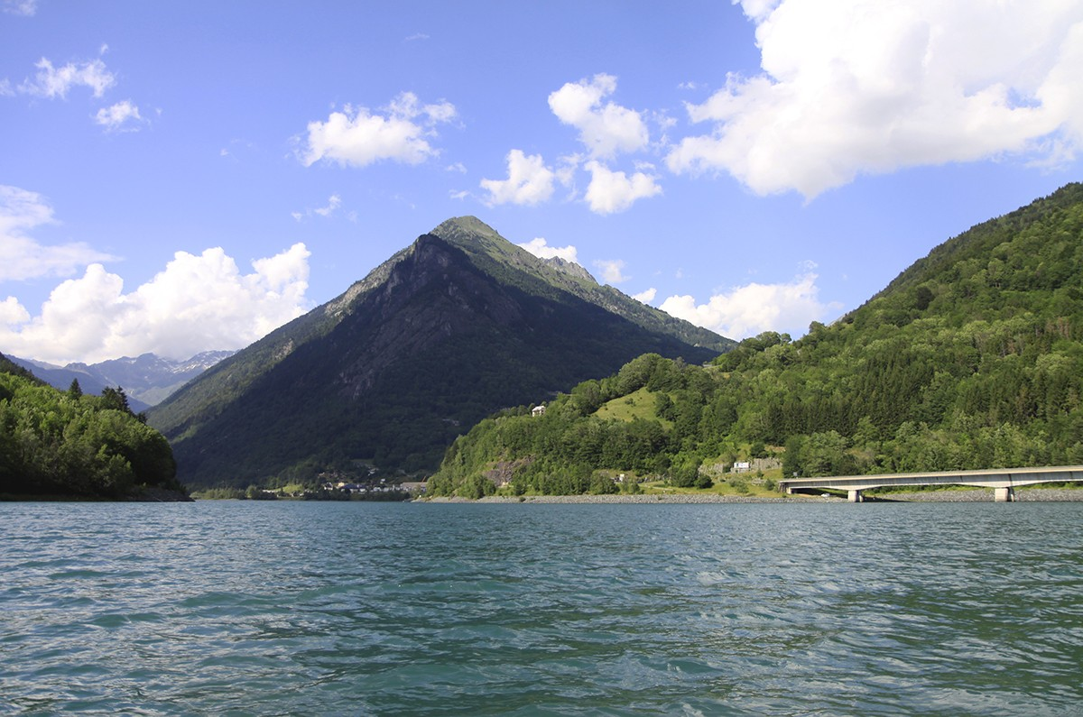 Uitzicht op de Alpe d'Huez