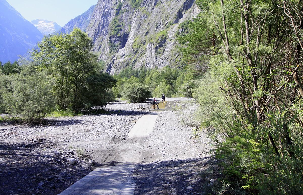 De Voie Verte, een van de fietsroutes in het achterland van Grenoble