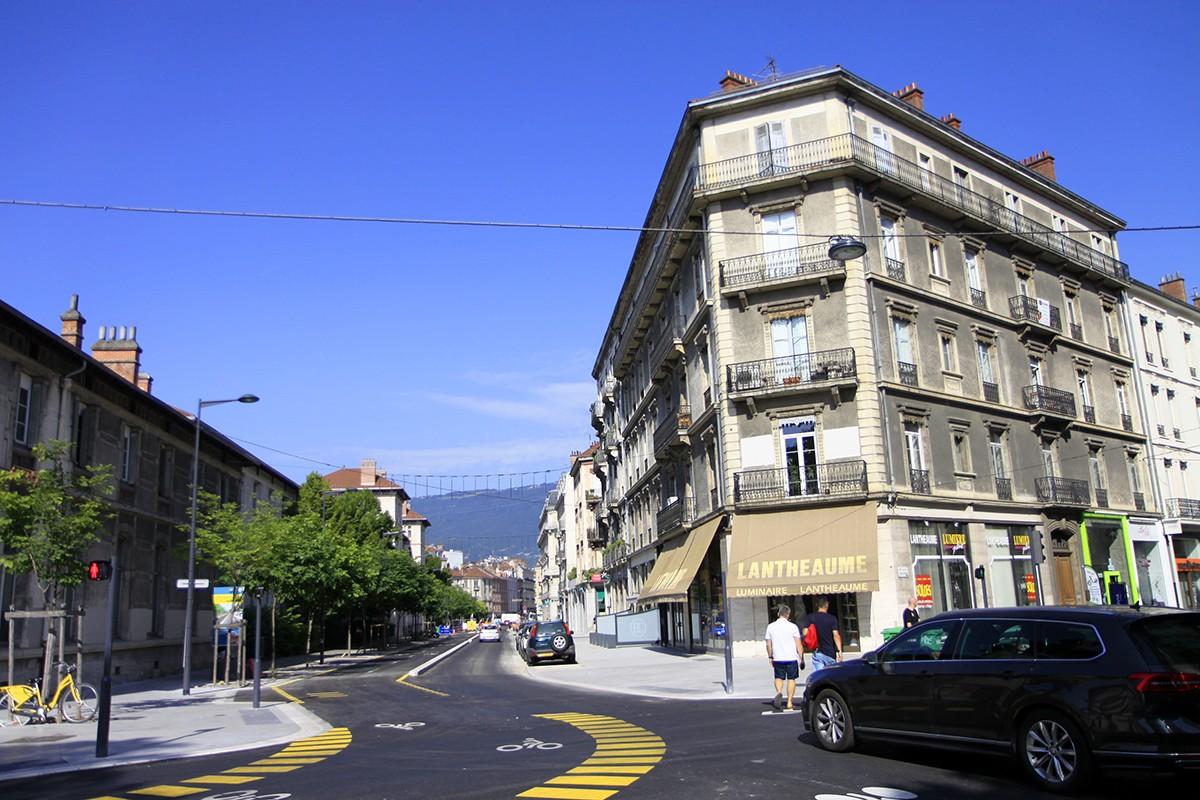 De fietssnelweg door Grenoble