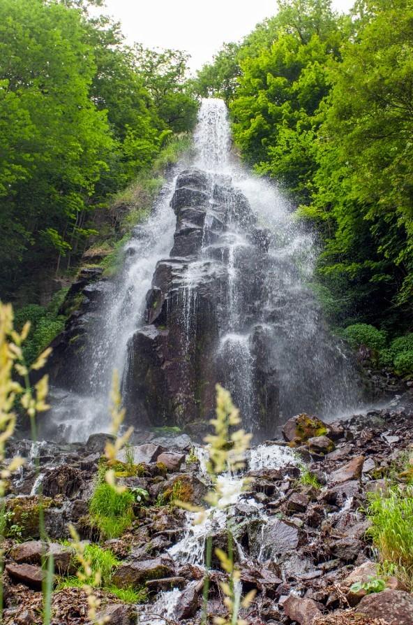 Waterval langs de route, even opfrissen! Foto: Thuringen Tourismus GmbH