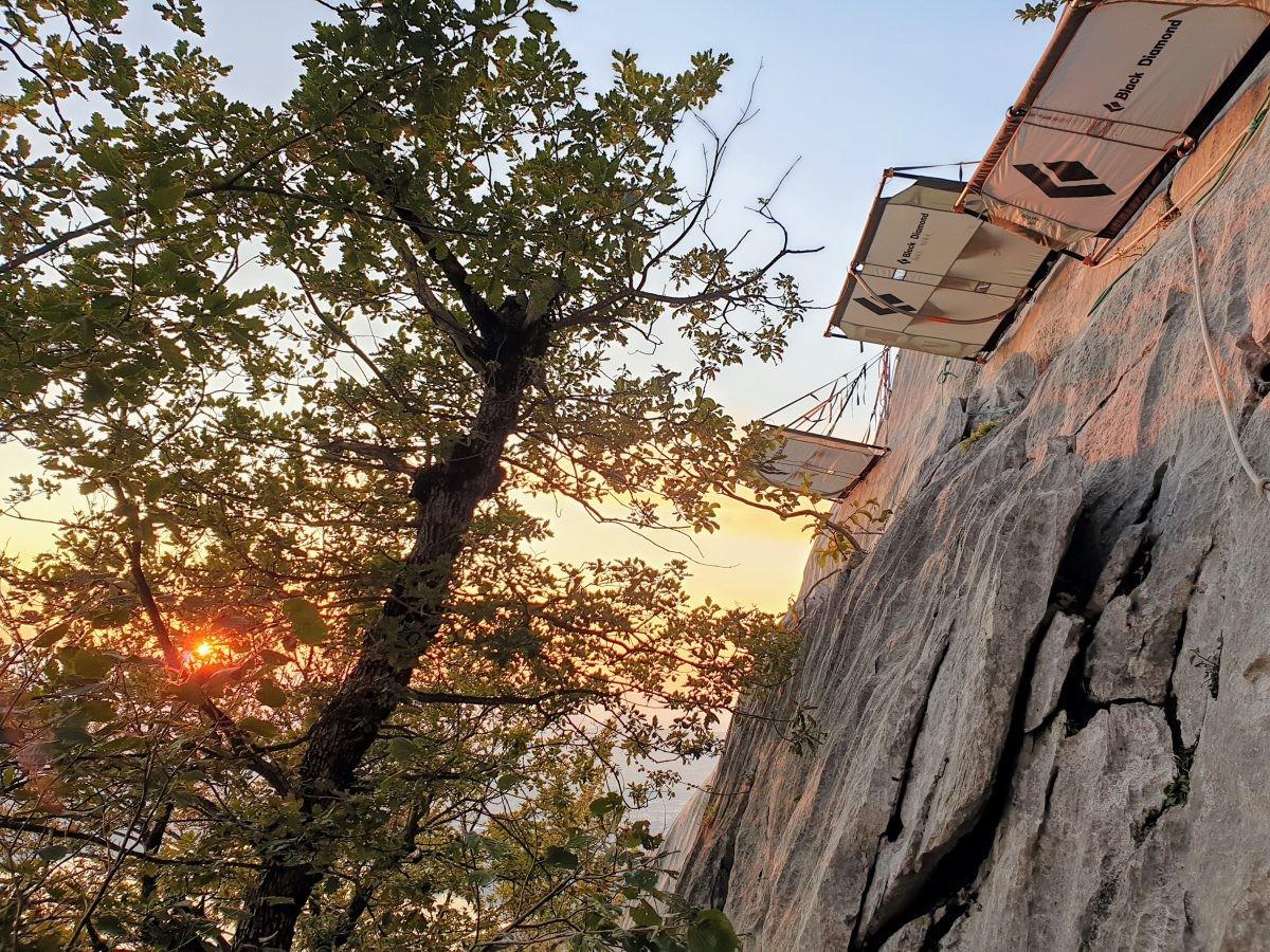 Daar hangt mijn bed voor vanavond. Foto: Sietske Mensing