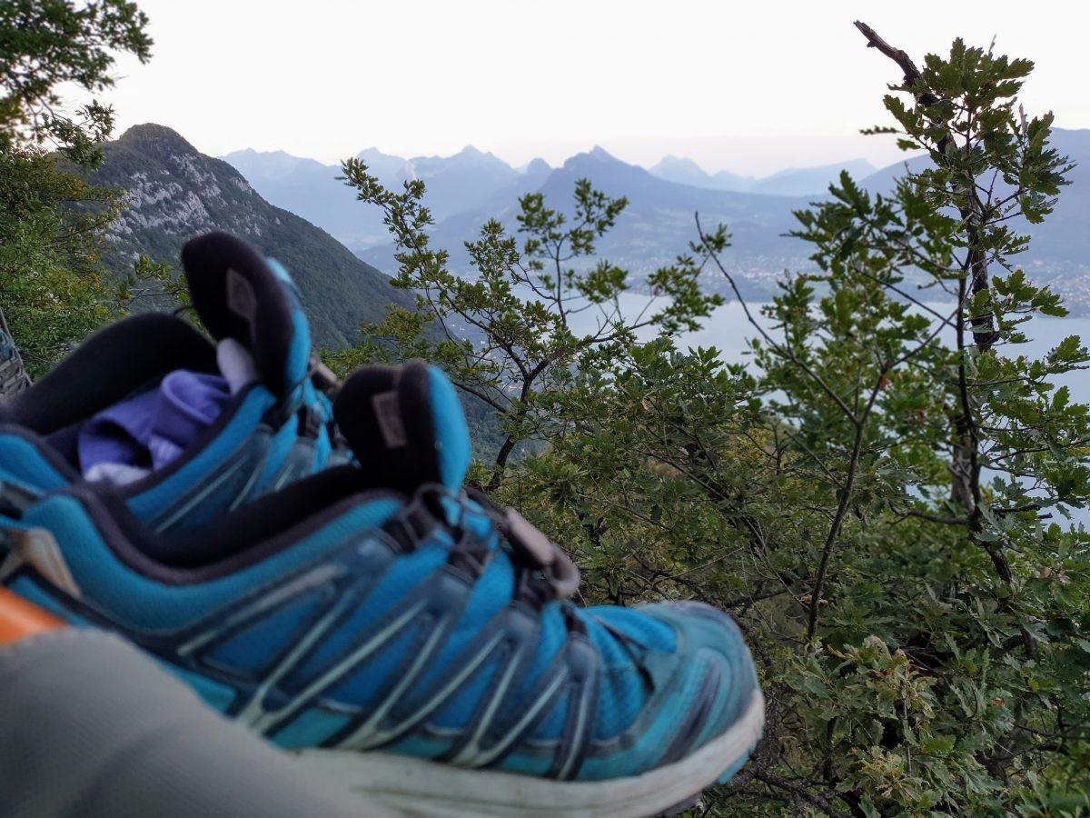Ook mijn schoenen hebben vannacht een mooi uitzicht gehad. Foto: Sietske Mensing