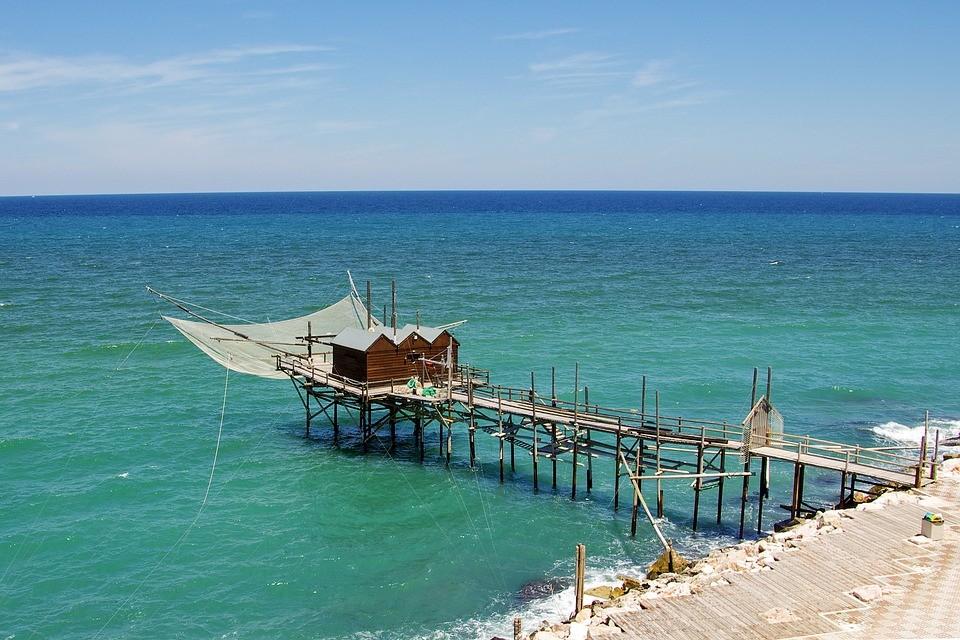Strand in de regio Molise