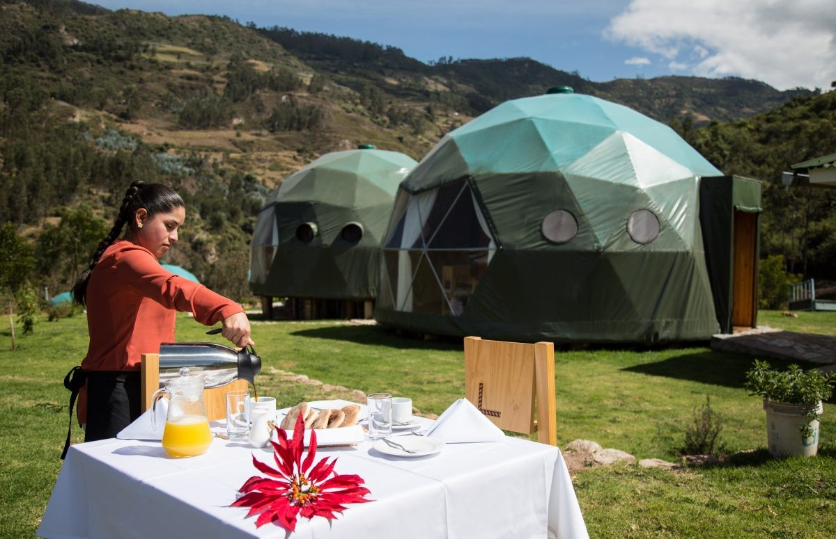 Wat ziet dit er waanzinnig gaaf uit - credits Peru Ecocamp