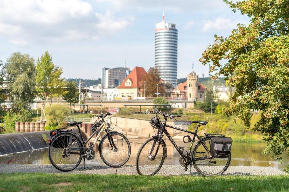 Genieten op de fiets in Thüringen. Foto: Moritz Kert