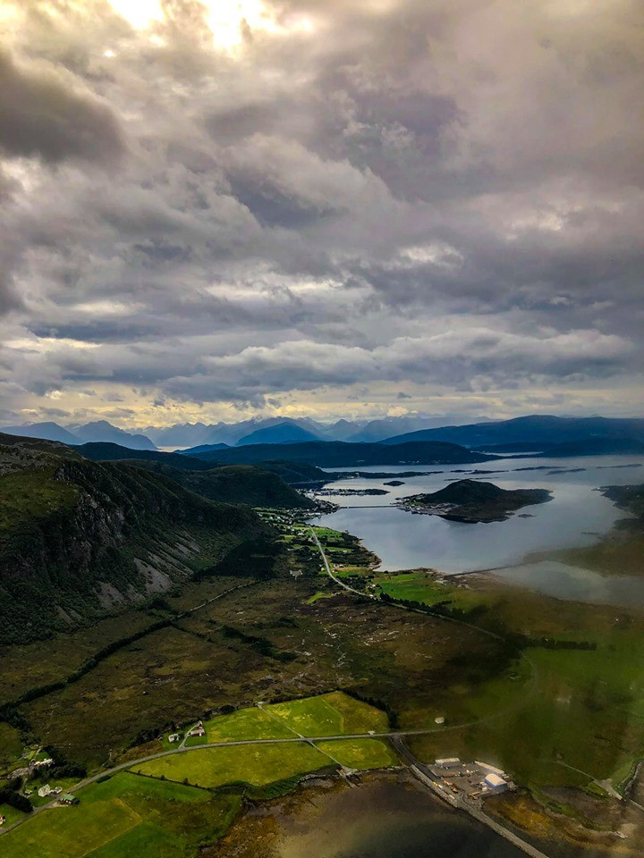 Vliegend boven Noorwegen 2