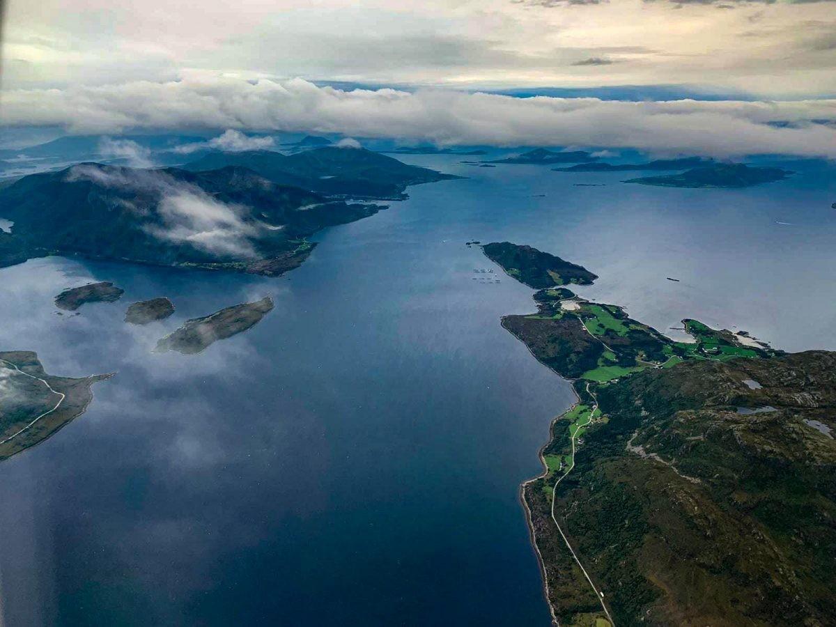 Vliegend boven Noorwegen 3