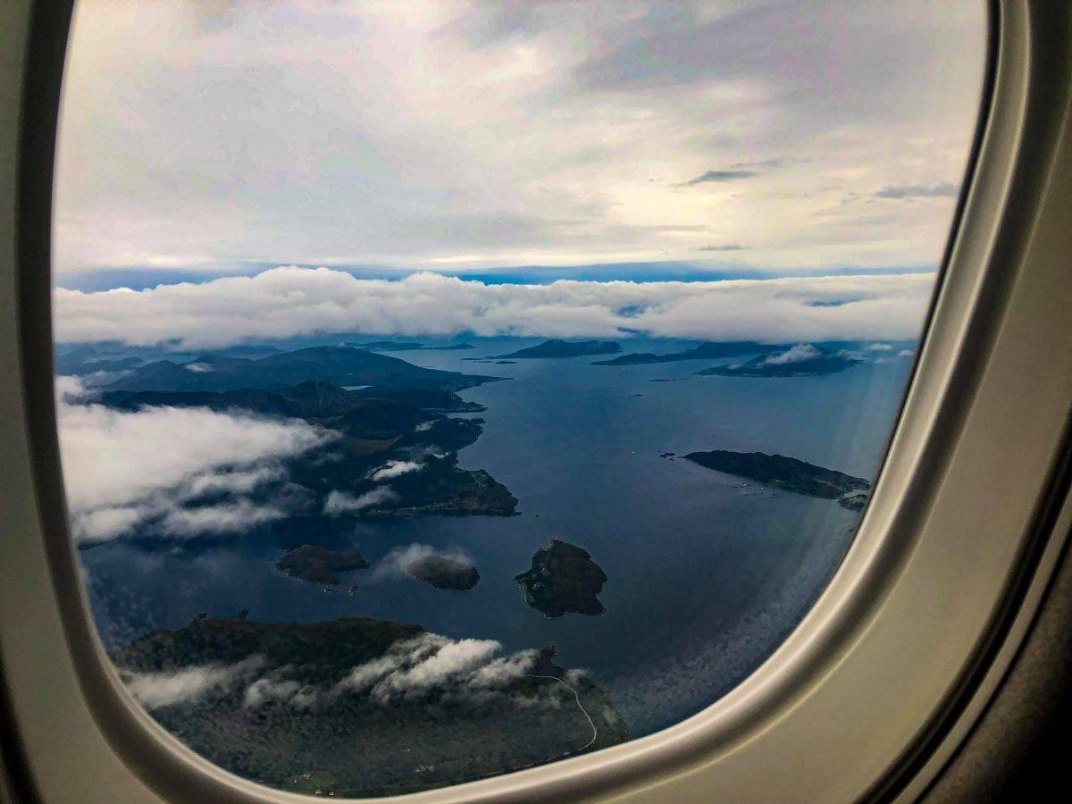 Vliegend boven Noorwegen