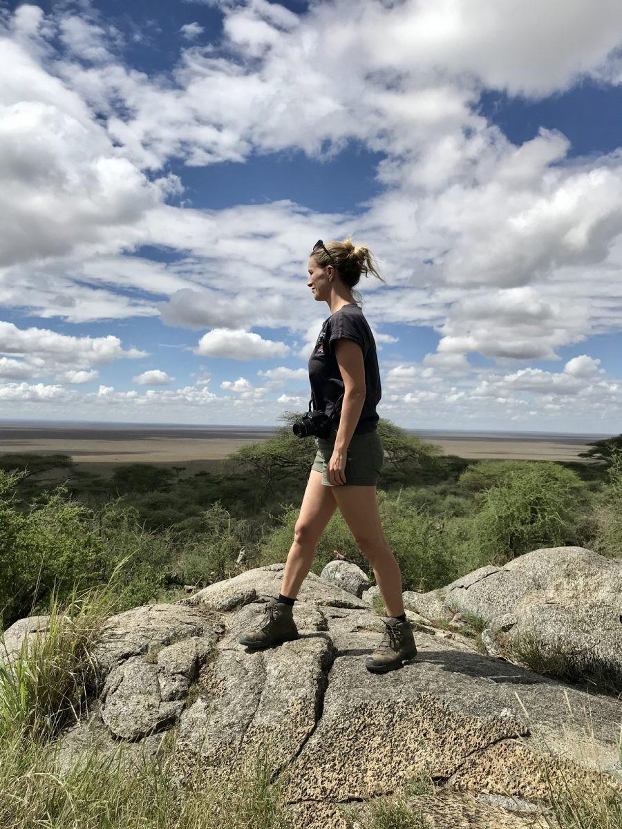 Uitzicht vanaf het 'koppie' bij de toegang tot Serengeti