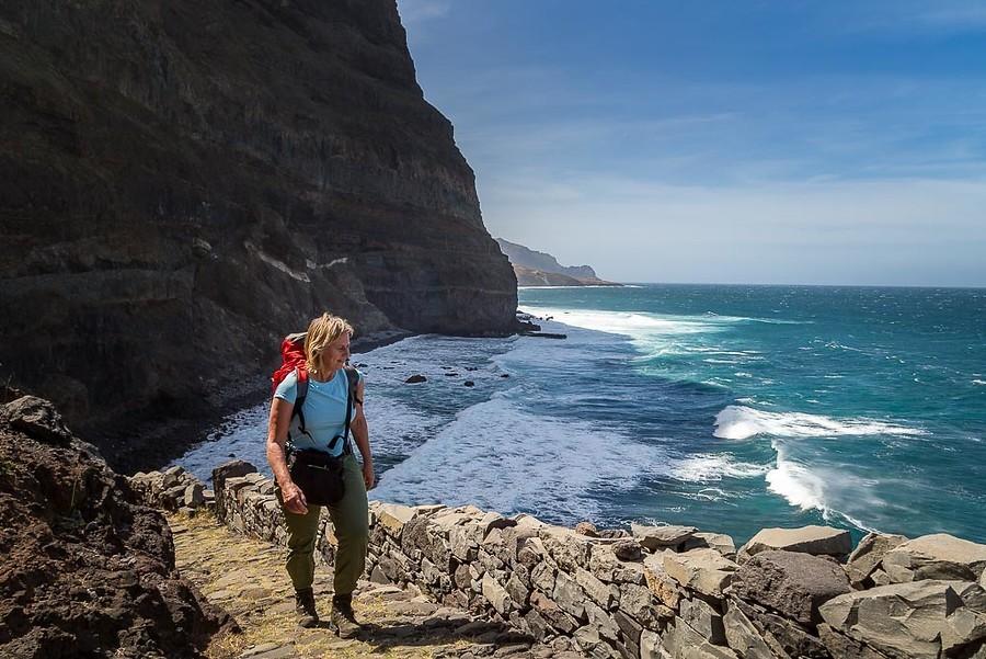 Ooit gedacht dat je zo mooi kunt wandelen in Kaapverdië? Foto: Desire Weststrate