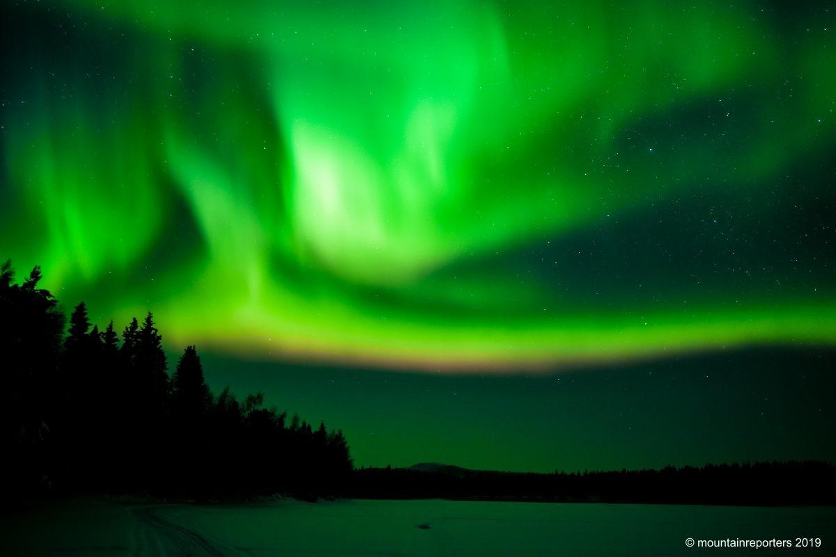 Het Noorderlicht in Fins Lapland. Foto: Edwin Hagenouw