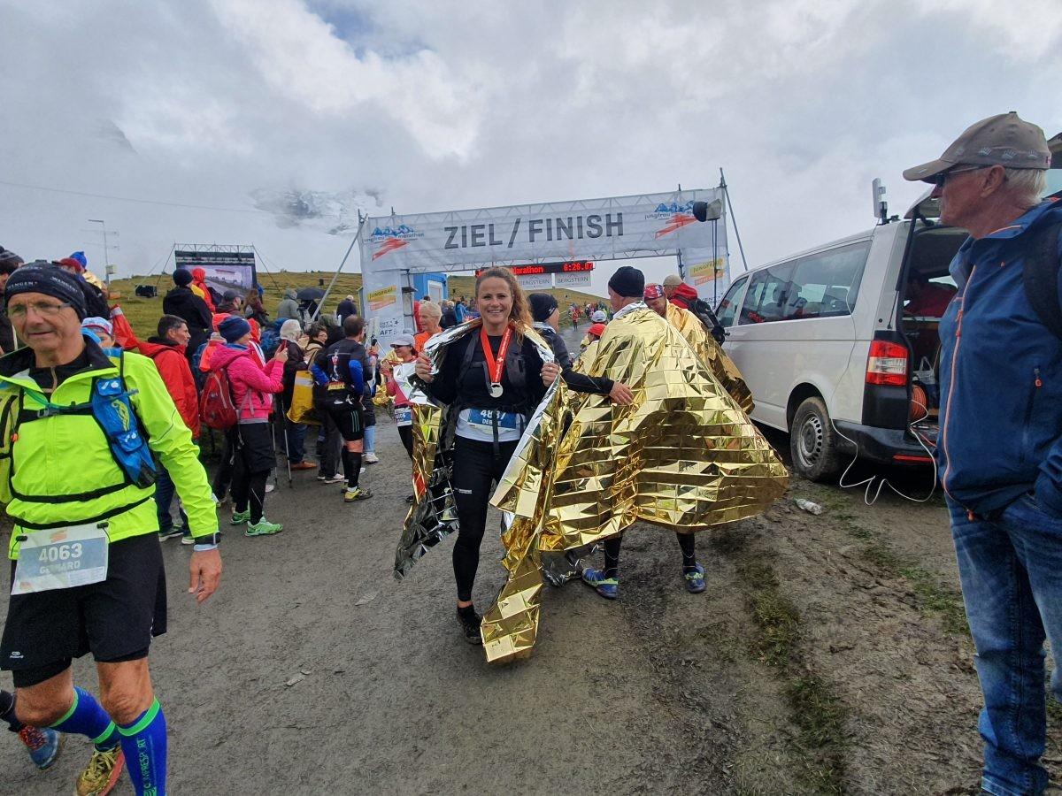 Finish Jungfrau Marathon