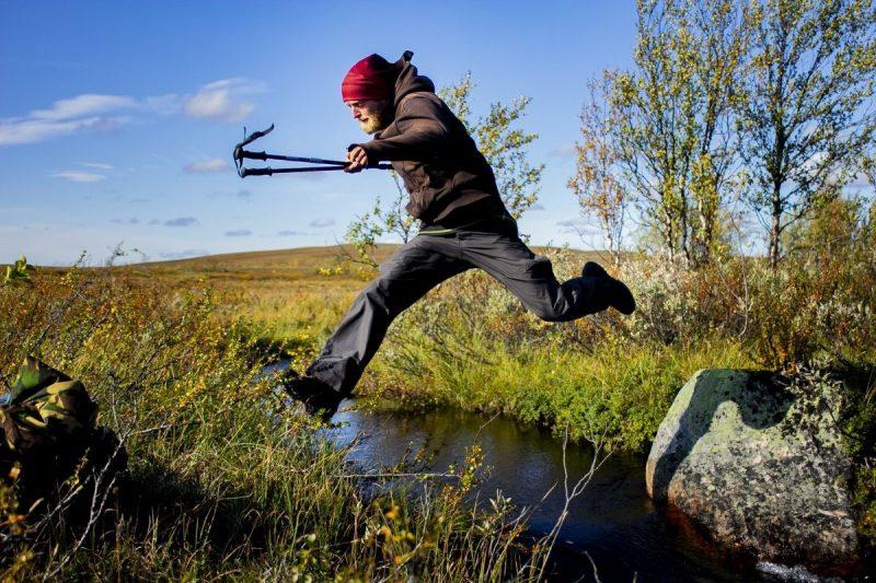 Soms kan je net over een rivier heen springen