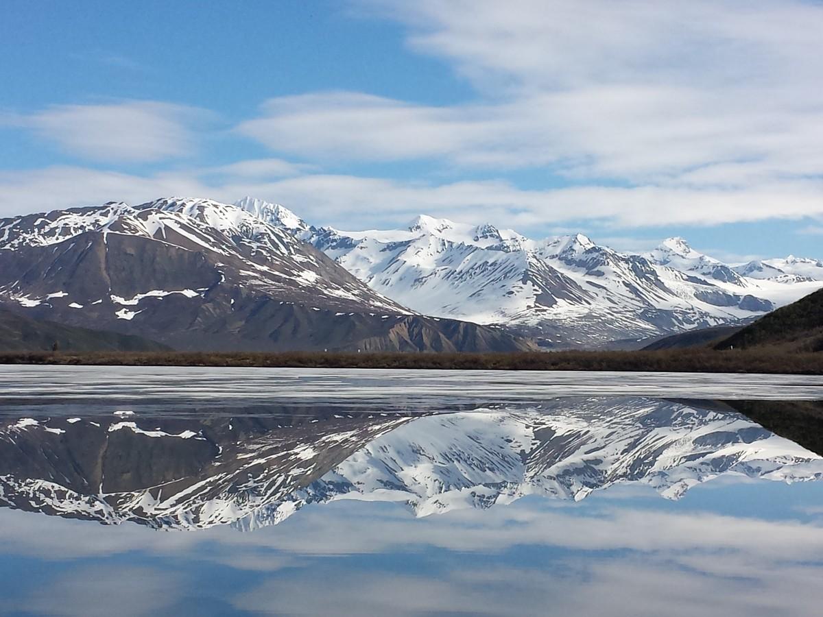 Gletsjers, meren en sneeuw. Wat een landschap! Foto: Askja Reizen