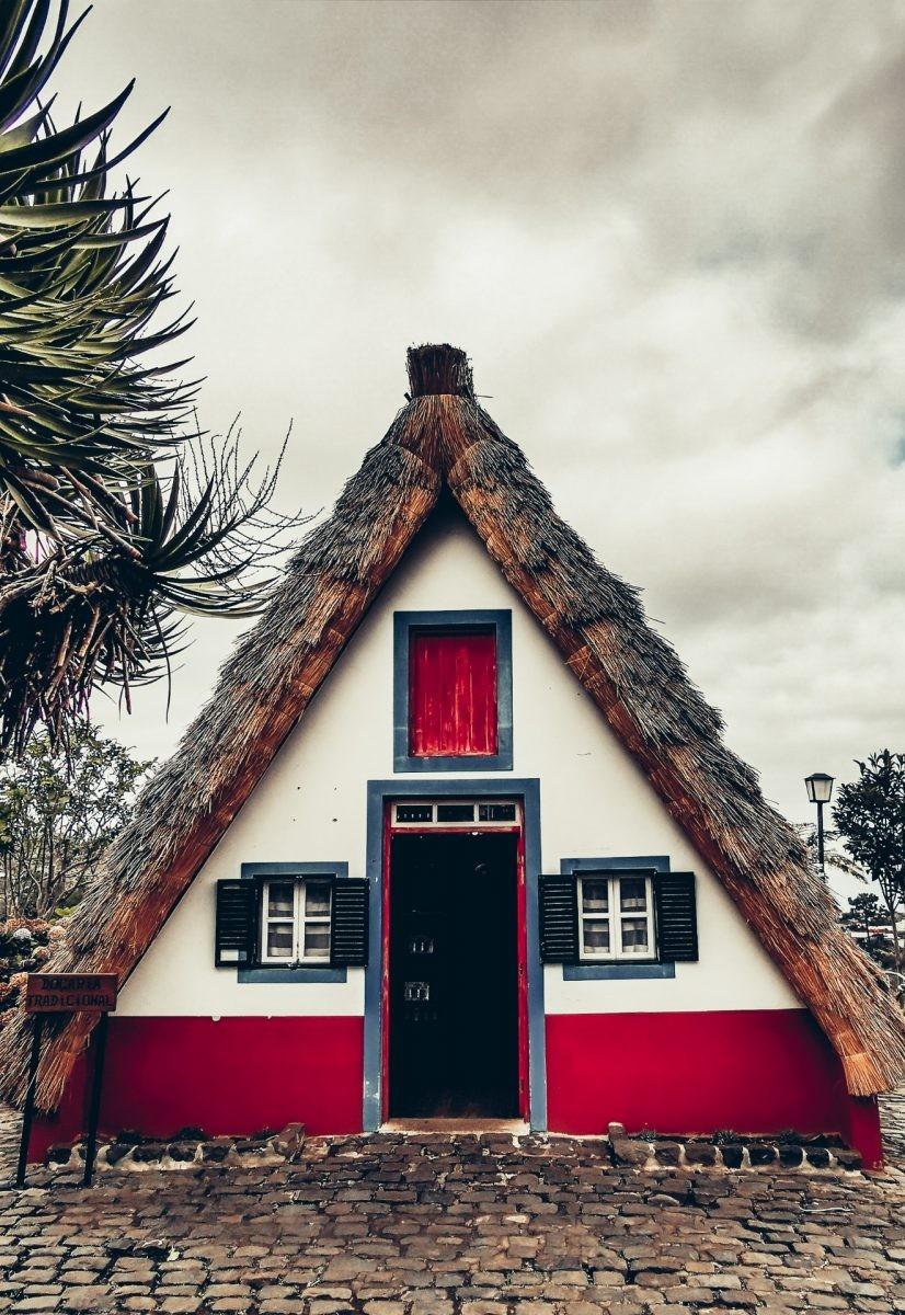 De typische huisjes in Santana