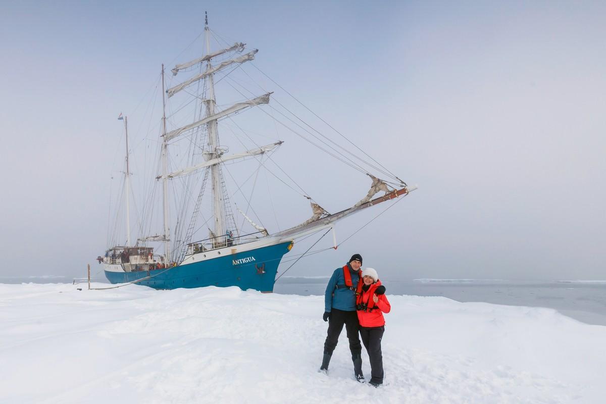 Regelmatig is het tijd voor een uitstapje vanaf de boot. Foto: Askja Reizen