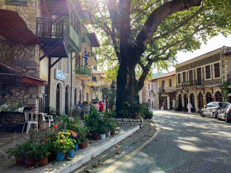 Griekse stadje Andritsaina Olympia in Griekenland