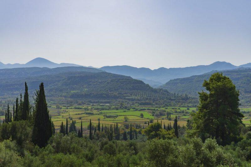 Landschap Olympia in Griekenland