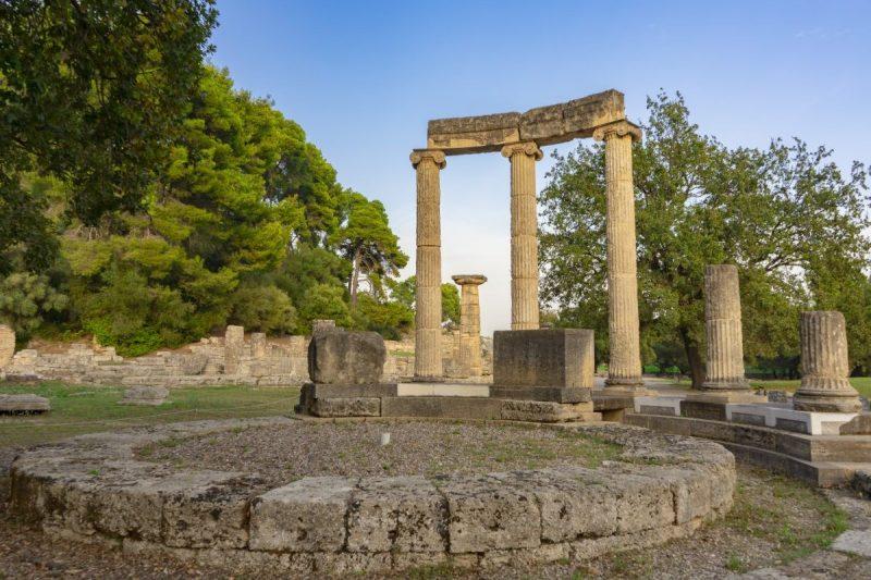Archeologische site Olympia in Griekenland