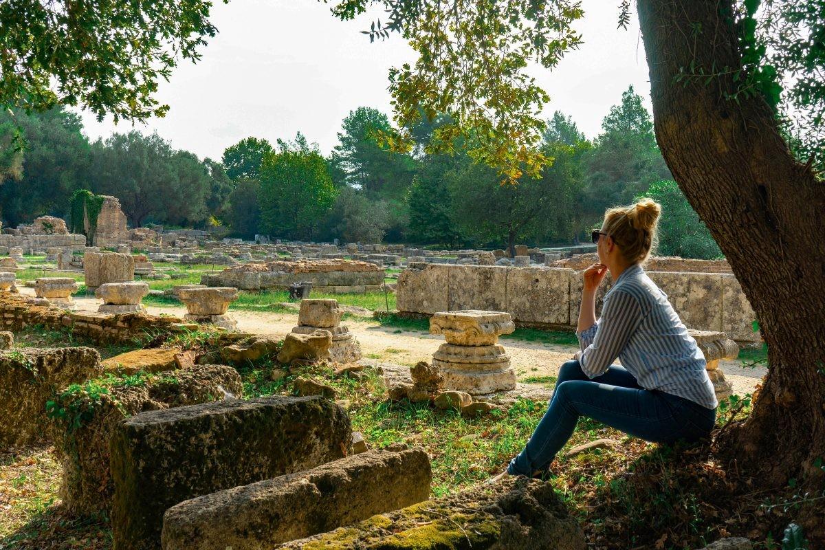 Site Olympia in Griekenland