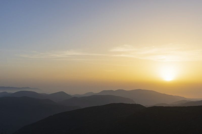 Zonsondergang Olympia in Griekenland