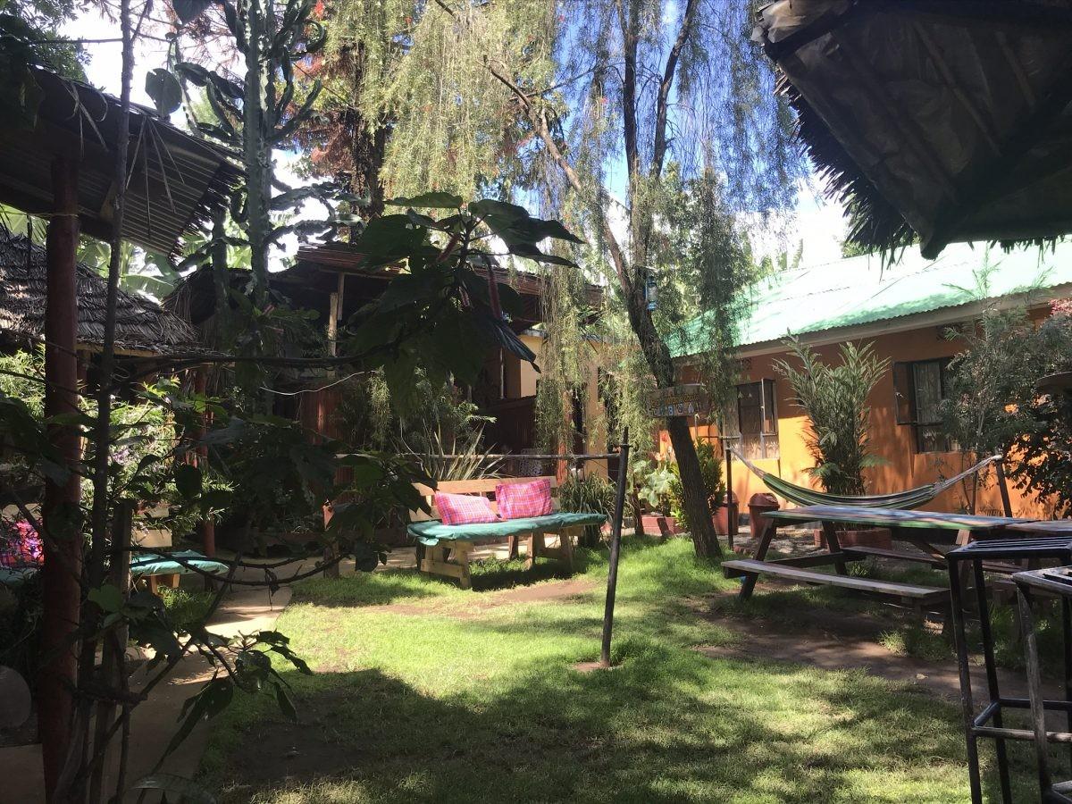 Op het Banana Farm Eco Hostel zit je letterlijk... op een bananenfarm! Foto: Pauline van der Waal