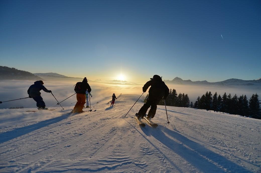 Lekker skiën op de pistes van Val d'Arly.