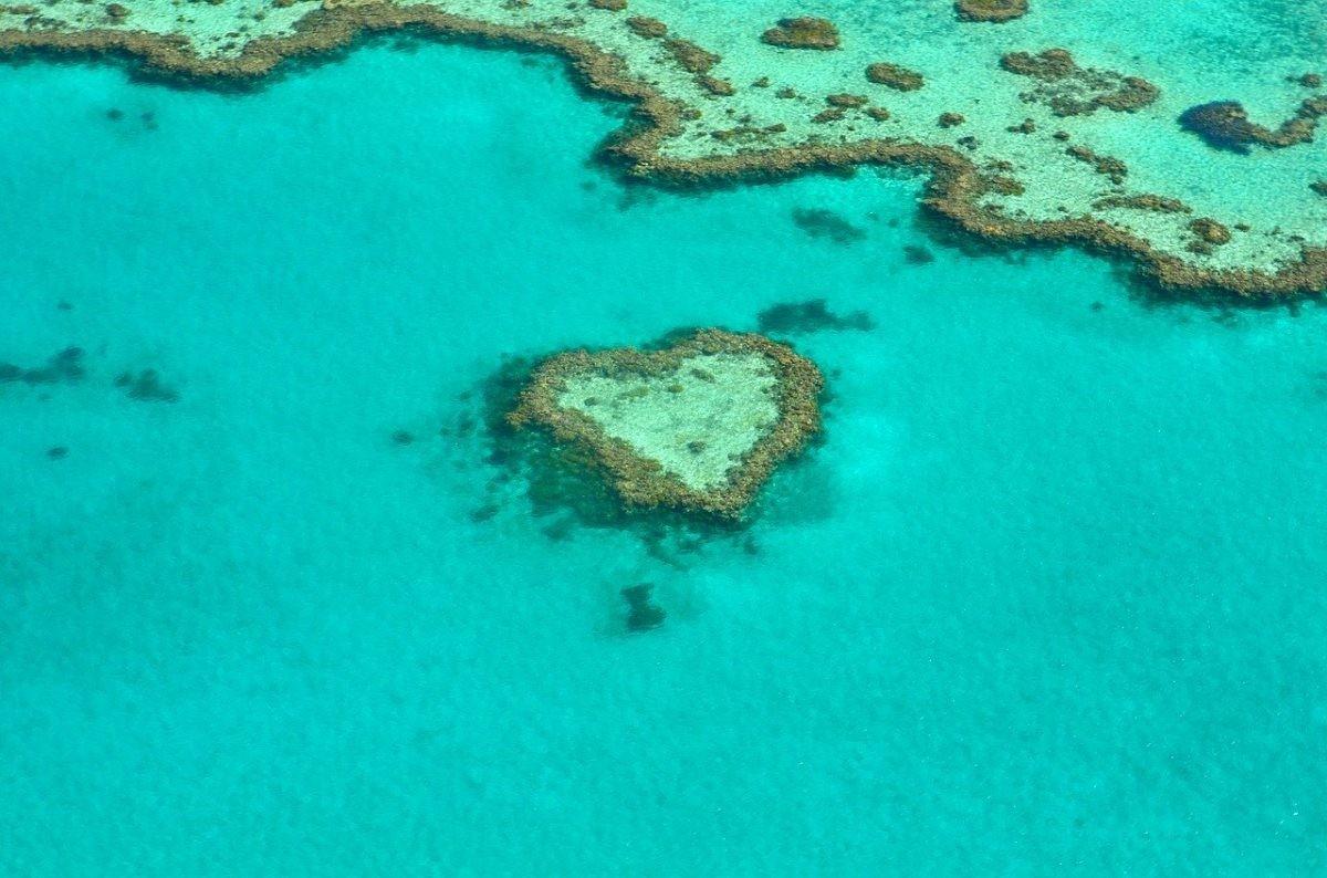 Heart Rif in het Great Barrier Reef. Afbeelding van alicia3690 via Pixabay