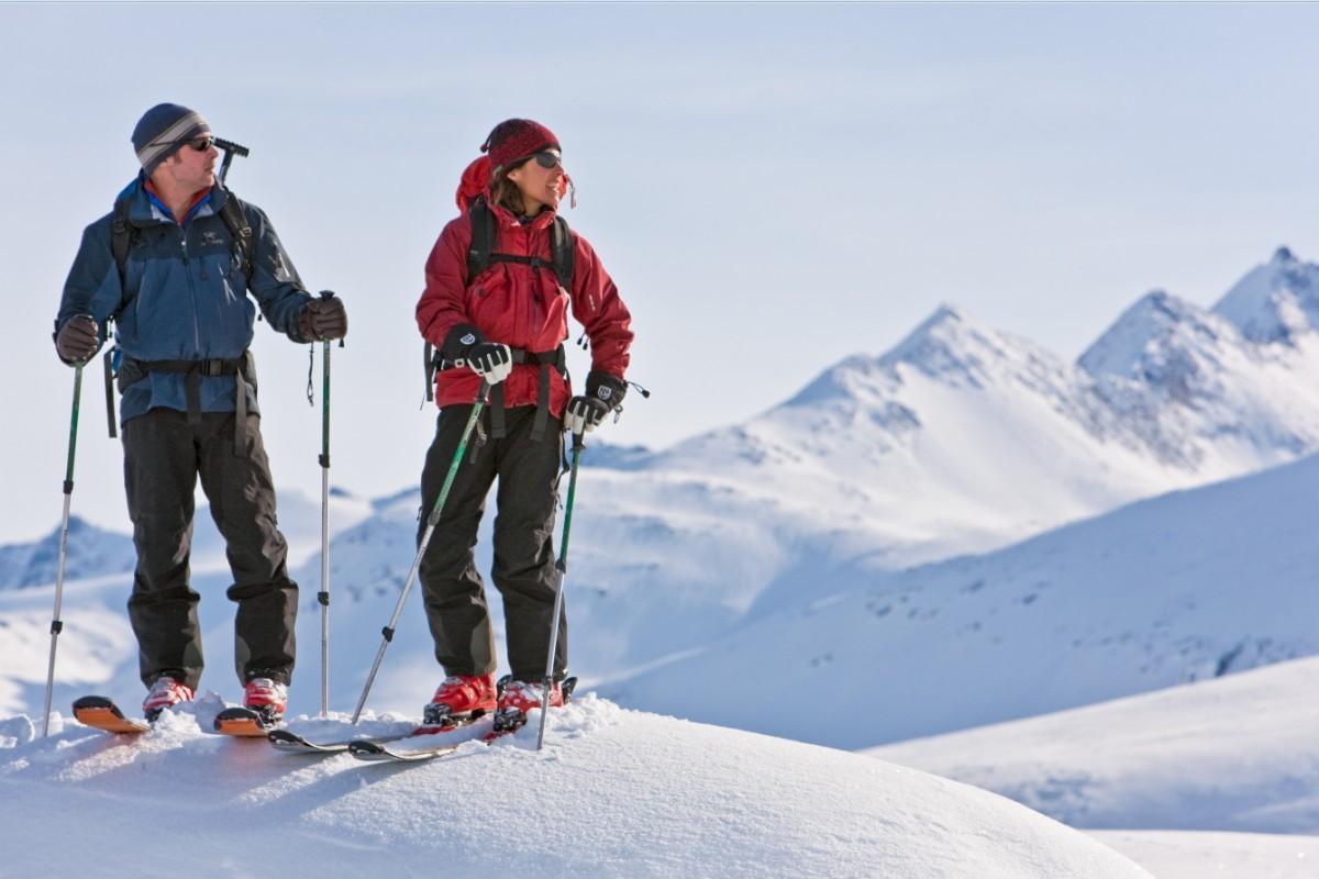 Zowel skiën als toerskiën kan goed in Yukon. Foto: F Mueller © Government of Yukon