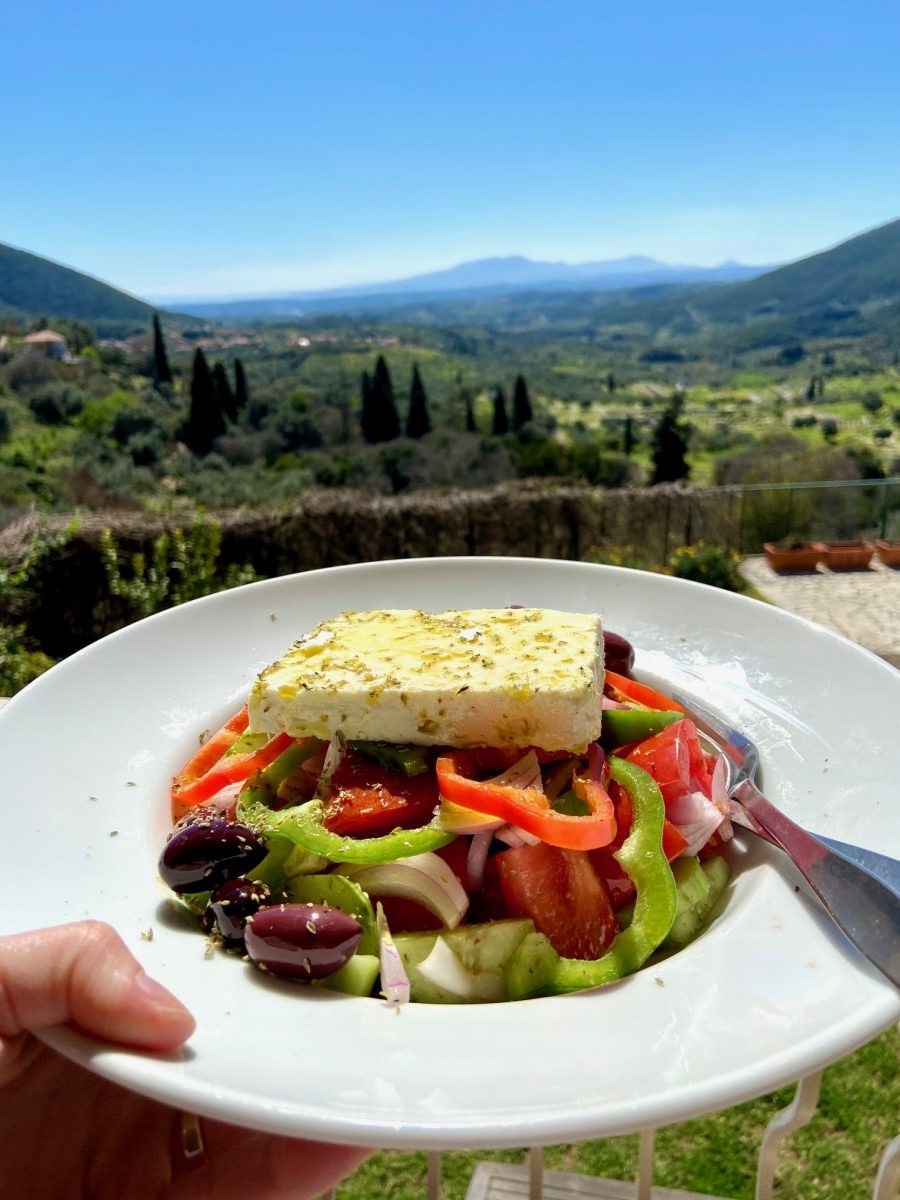 Griekse lunch Foto: Maaike de Vries