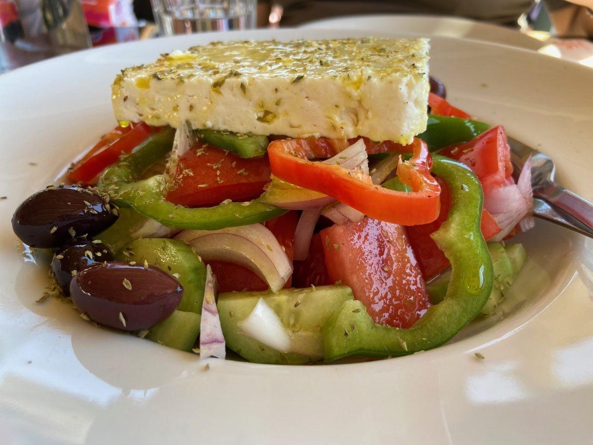 Griekse lunch. Foto: Maaike de Vries