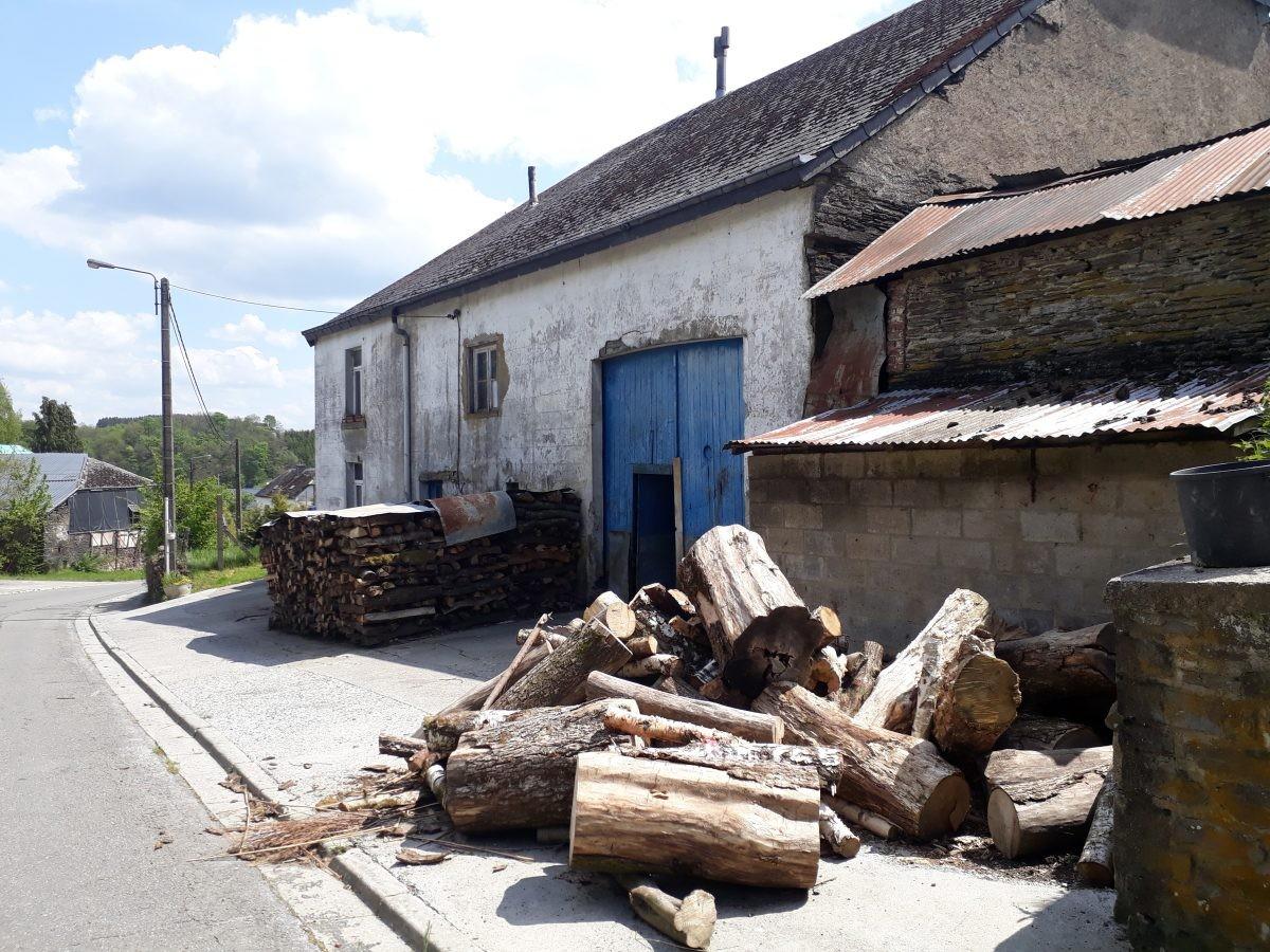 grote voorraden hout voor de winter, maar wordt het nog wel winter