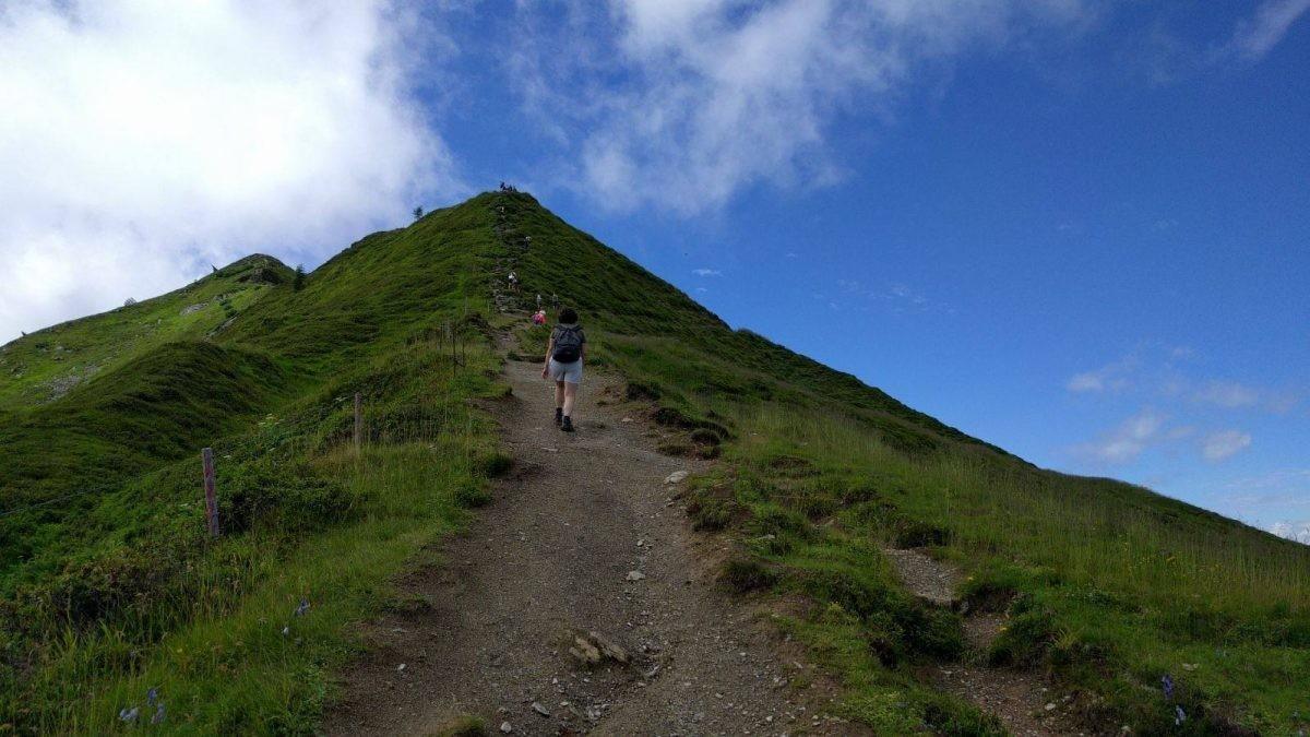 Op weg naar de top van de Wiedersbergerhorn - eigen foto Jacqueline van der Steele