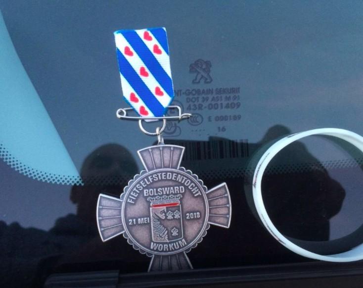 Fietselfstedentocht medaille 2018