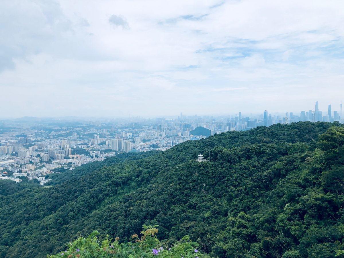 Uitzicht op metropool Guangzhou